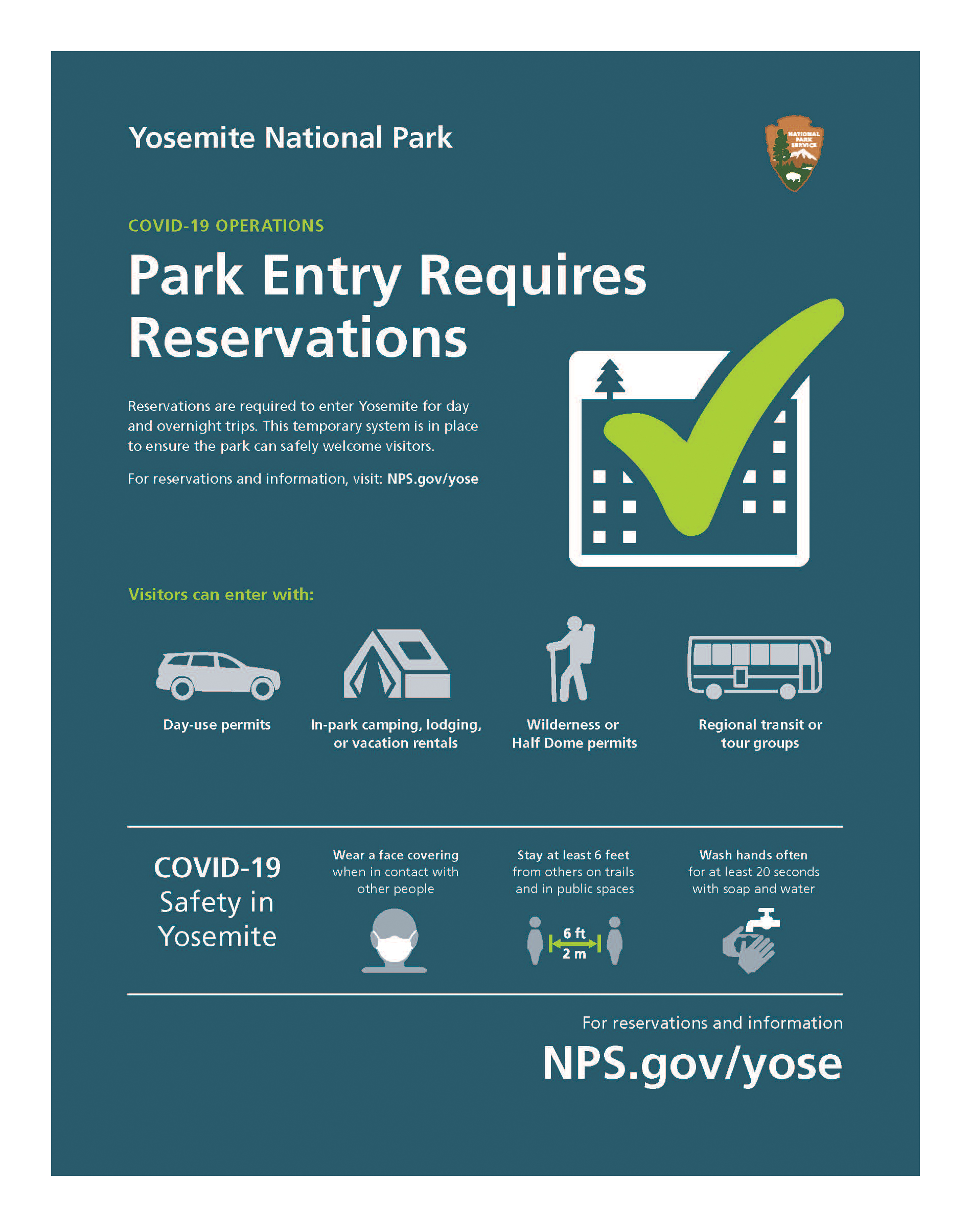 Park Entry Requires Reservations
