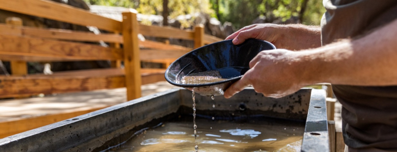Gold Panning in Columbia