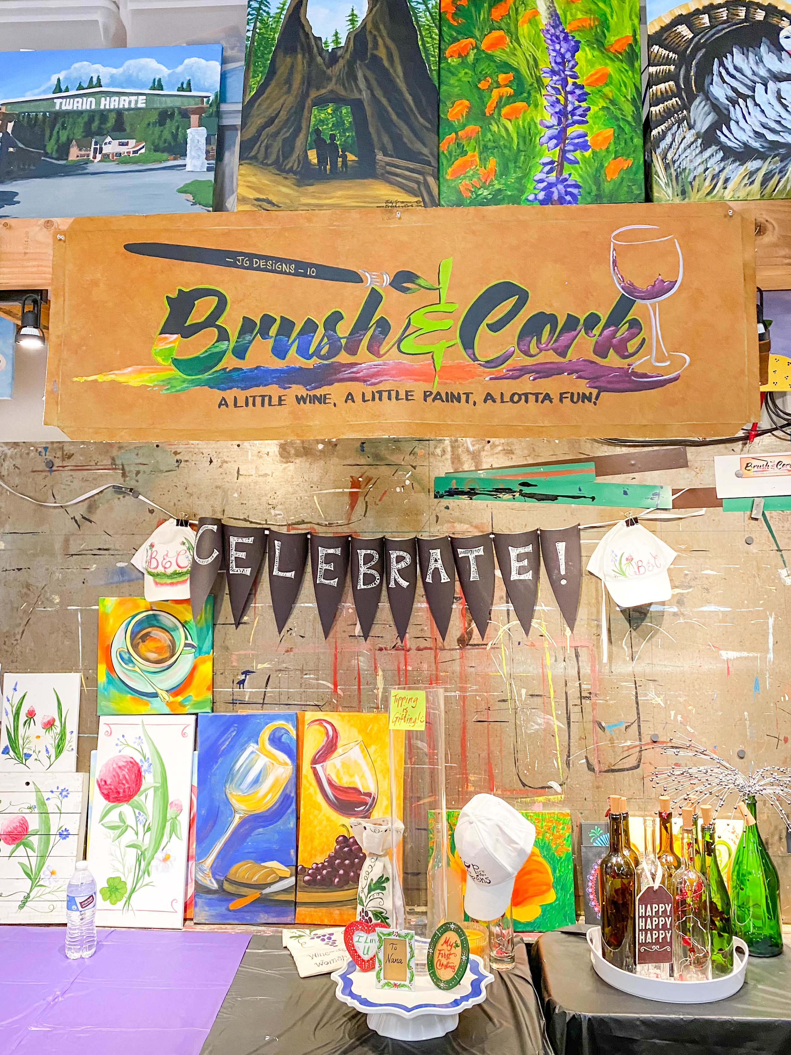 Brush and Cork sign