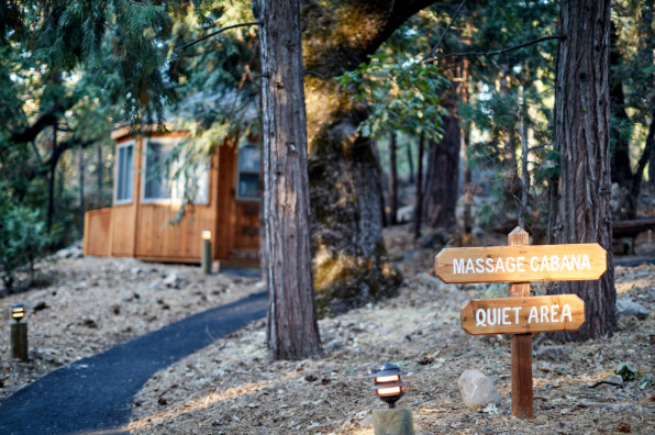 Evergreen Lodge Massage Cabana